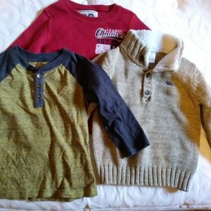 Other - Boys 3t long sleeve shirts one is a sweater